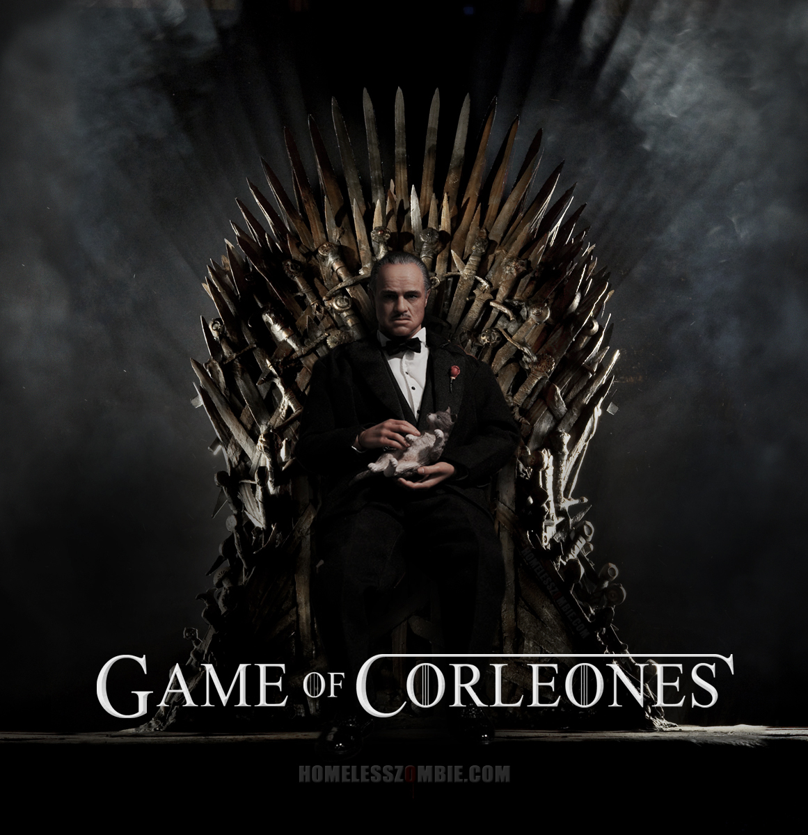 Vito Corleone sits on the Iron Throne. Game of Thrones / The Godfather ...